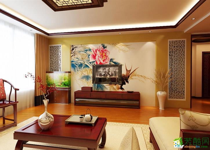 长春100平米三室两厅中式风格装修案例
