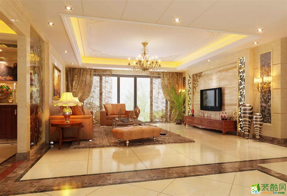 长春110欧式风格三室两厅装修案例图