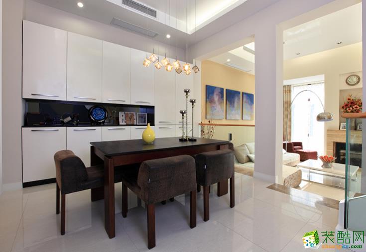 123平米三居室现代简约装修效果图