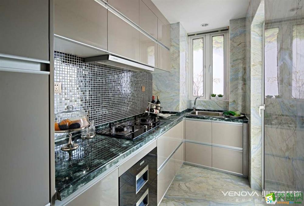重庆四室两厅装修-保利香槟花园159平米现代风格装修效果图赏析-业之峰装饰
