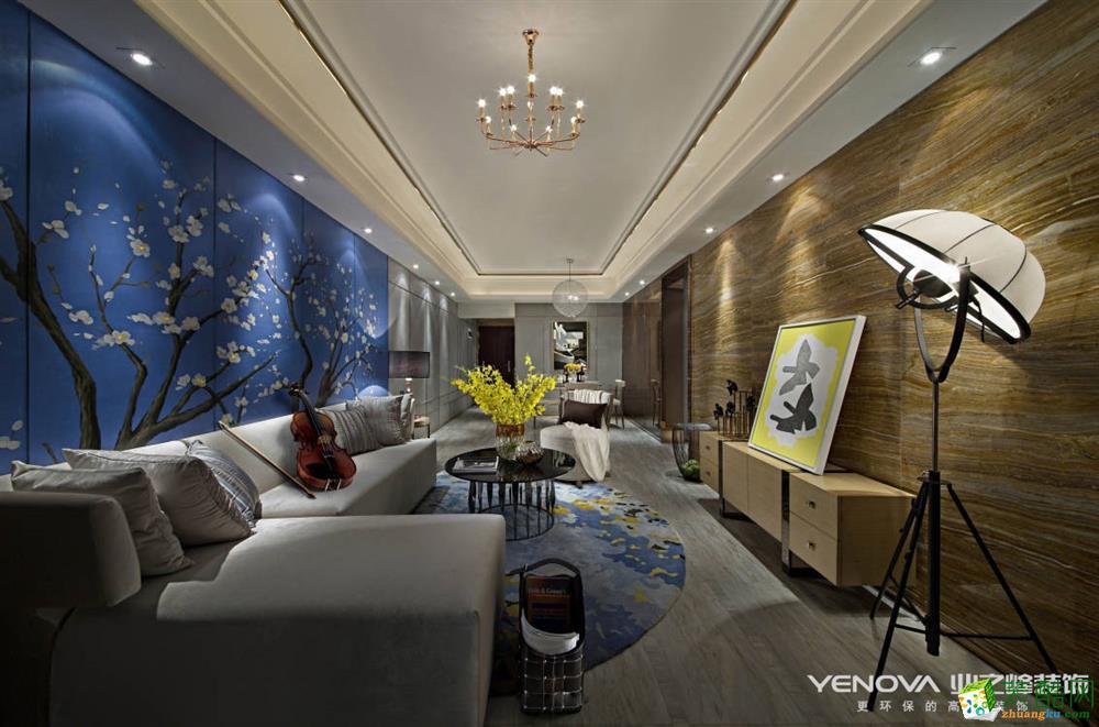 客厅 重庆四室两厅装修-保利香槟花园159平米现代风格装修效果图赏析-业之峰装饰 (业之峰-保利香槟花园)
