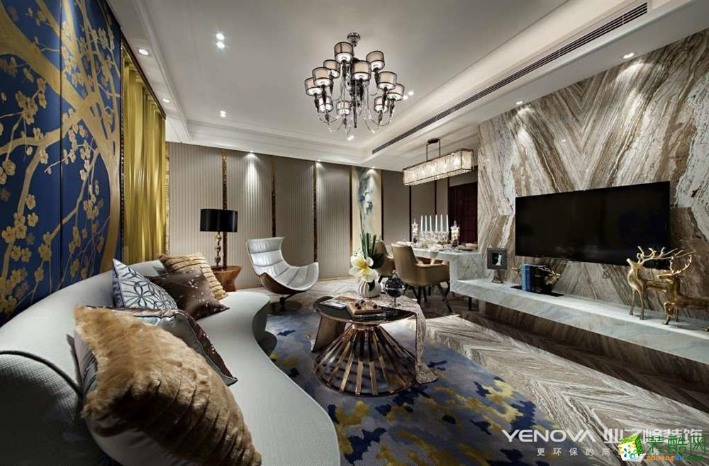 重庆四室两厅装修-保利香槟花园159平米现代风格装修效果图-业之峰装饰