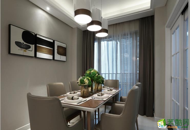 128平米三居室现代风格装修效果图