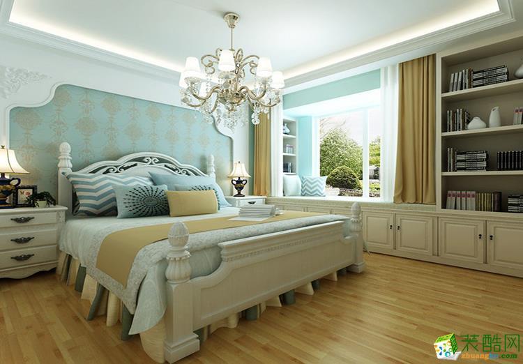 120平三居室美式风格装修效果图