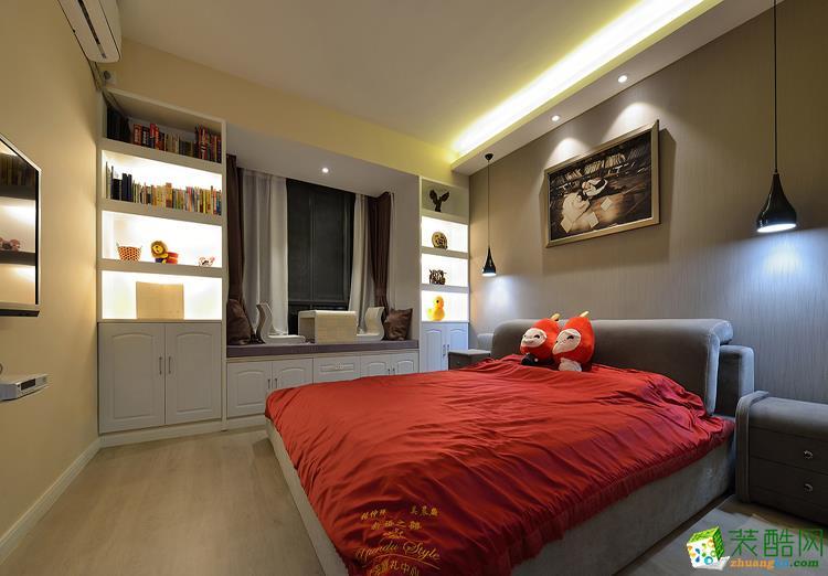 113平三居室现代风格装修效果图