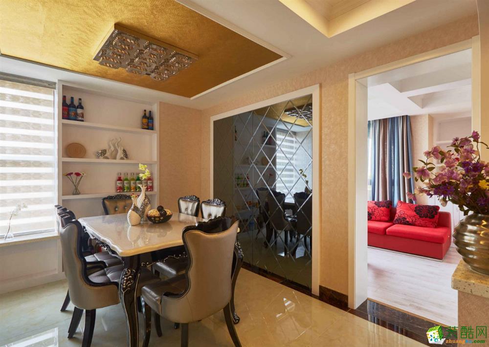 >> 重庆三室两厅装修-现代风格98平米装修效果图-津珉装饰