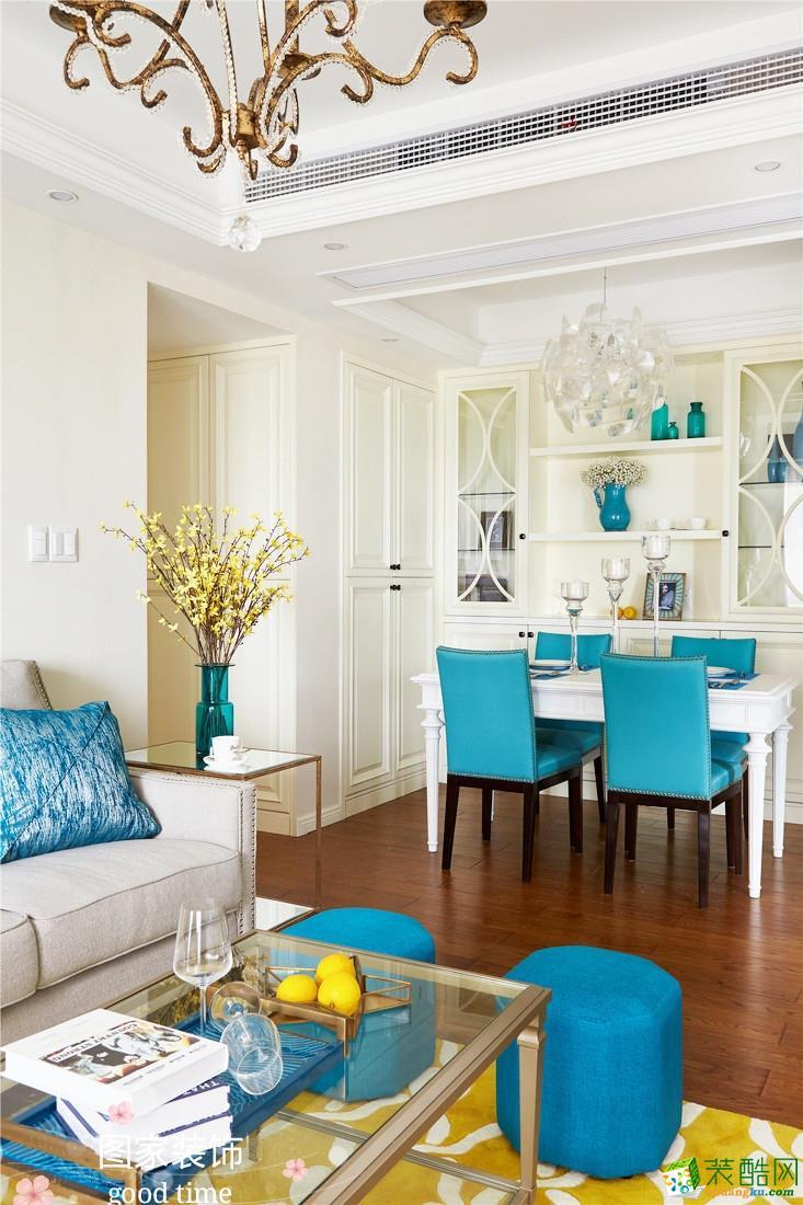 重慶兩室一廳裝修-鳳凰灣70平米美式風格裝修效果圖-圖家裝飾