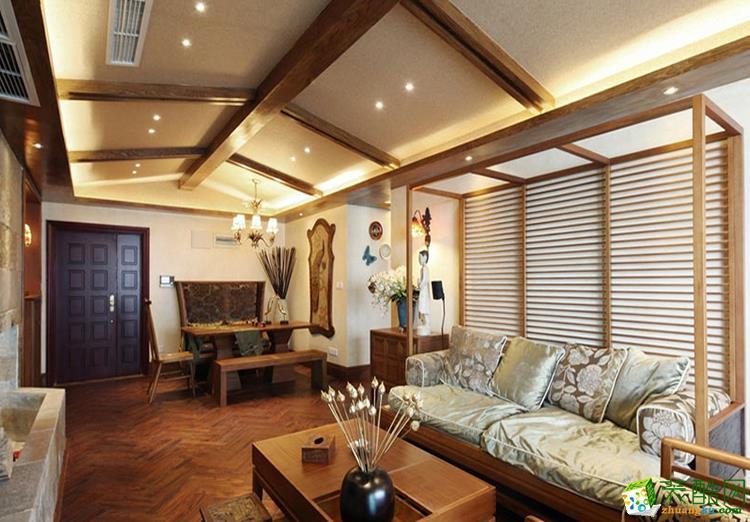 130三居室东南亚风格装修效果图