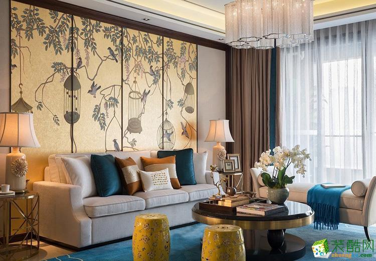 136三居室中式风格装修效果图
