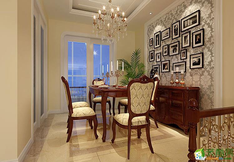 124三居室欧式风格装修效果图