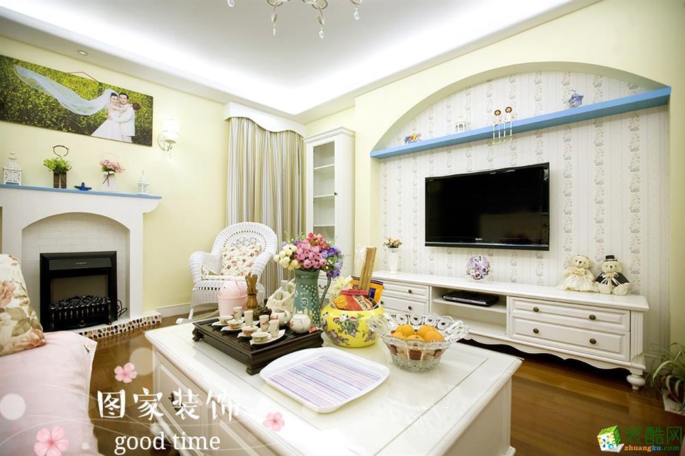 重慶兩室一廳裝修-首創鴻恩72平米田園風格裝修效果圖-圖家裝飾