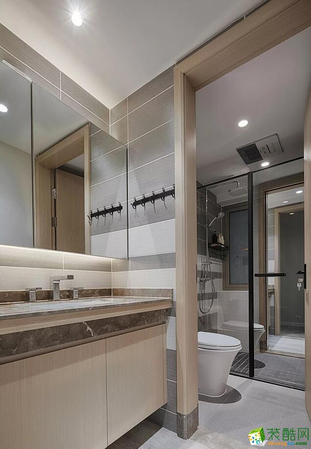南宁两室一厅一卫装修—飞荣装饰70平现代简约风格装修效果图