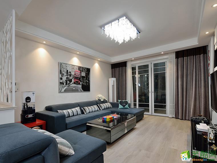 重庆三室两厅装修-现代风格93平米装修效果图-唐卡装饰