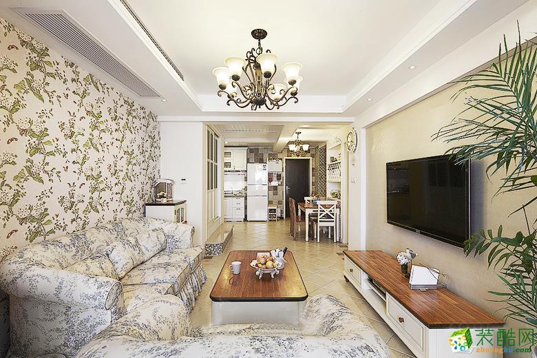 重庆三室两厅装修-欧式田园风格89平米装修效果图-兄弟装饰
