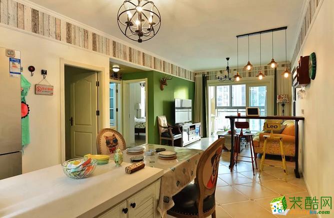 客厅  乾丰紫园73.49㎡现代式两室两厅案例