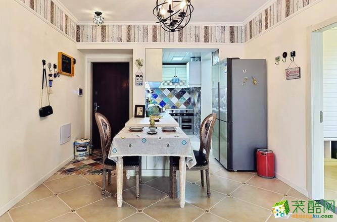 餐厅  乾丰紫园73.49㎡现代式两室两厅案例