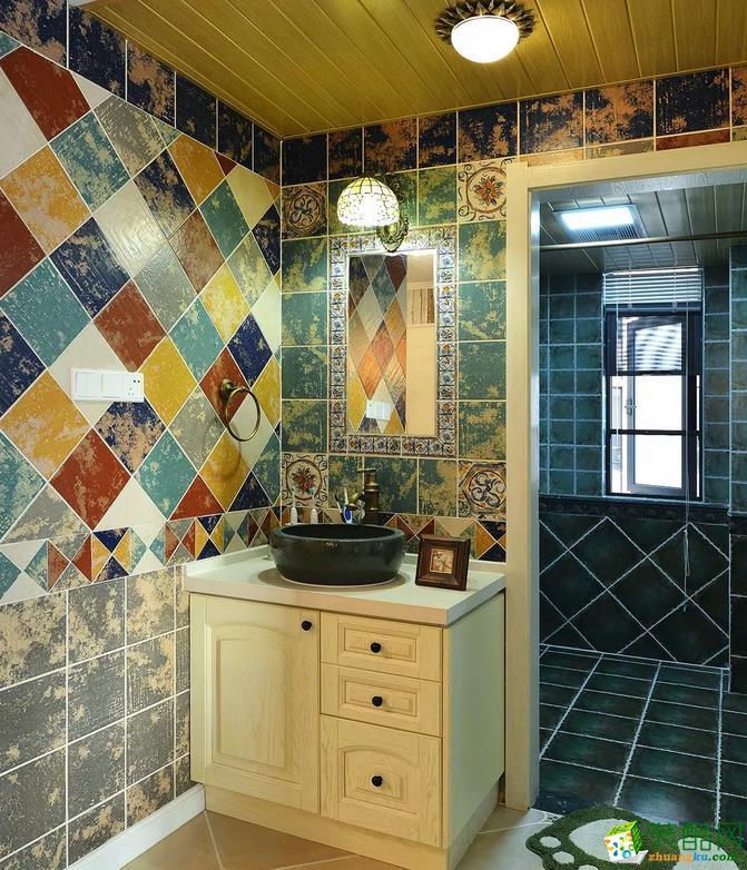 卫浴  乾丰紫园73.49㎡现代式两室两厅案例