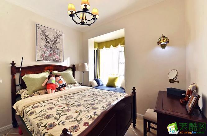 卧室  乾丰紫园73.49㎡现代式两室两厅案例