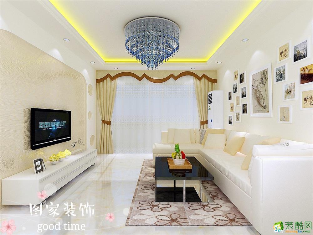 重慶兩室一廳裝修-華宇上院72平米現代風格裝修效果圖-圖家裝飾