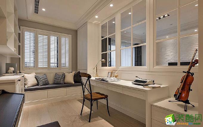 杭州115�O三室两厅两卫美式风格装修设计效果图