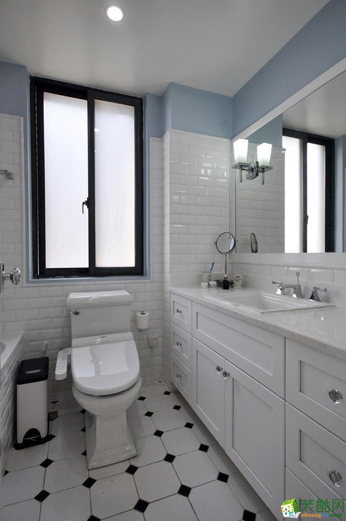 杭州90�O三室一厅一卫美式风格装修设计效果图