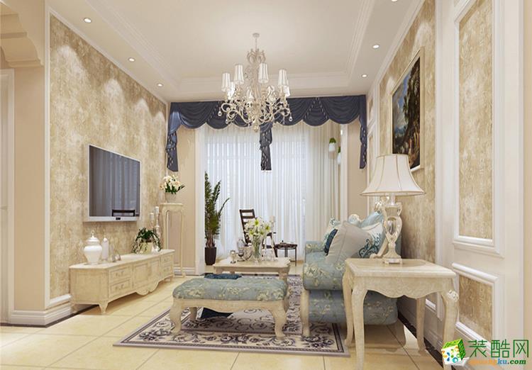 123平米三居室欧式风格装修效果图