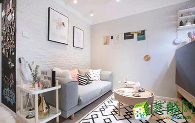 重慶兩室一廳裝修-50平米現代風格裝修效果圖-達瑞裝飾