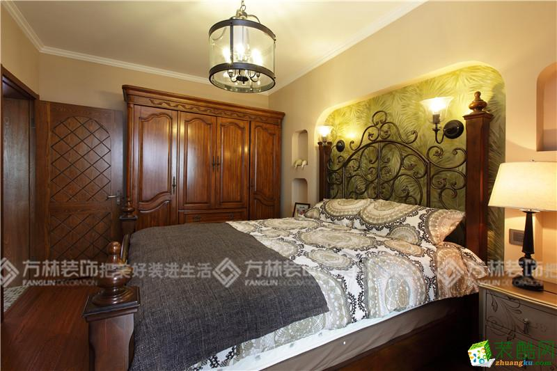 卧室  沈阳金地檀府140平美式装修案例图