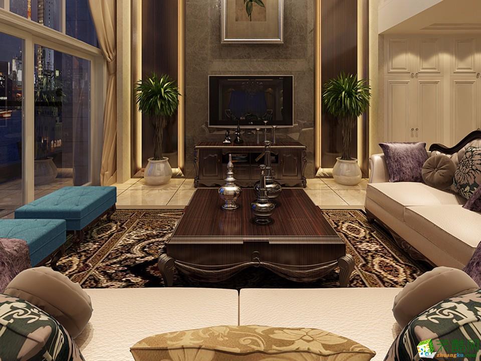 东方府邸265方新古典风格跃层住宅设计效果图