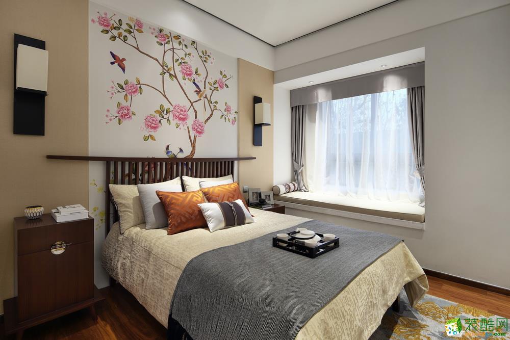 杭州100�O两室两厅一卫新中式风格装修效果图