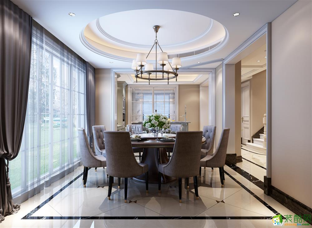 杭州150�O四室两厅两卫轻奢风格装修设计效果图