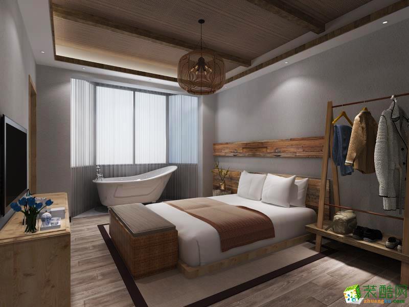 杭州165�O四室两厅两卫新中式风格装修设计效果图