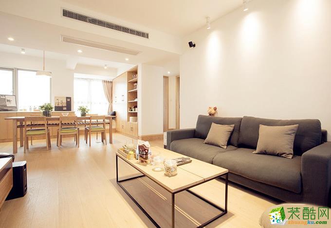 贵阳保利溪湖三居室100平米现代装修风格案例