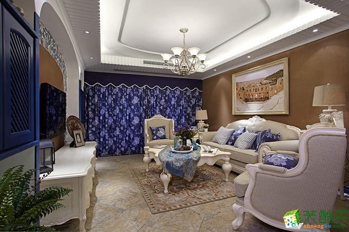 贵阳130平米三居室半包地中海风格案例