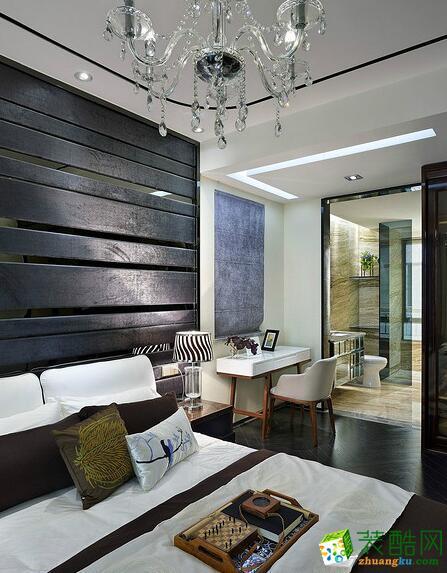 滨湖南丽湾89㎡两室一厅一卫新中式风格装修效果图
