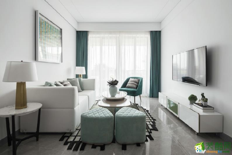 【尊品裝飾】藍苑靜園-91㎡兩居室簡約風格效果圖