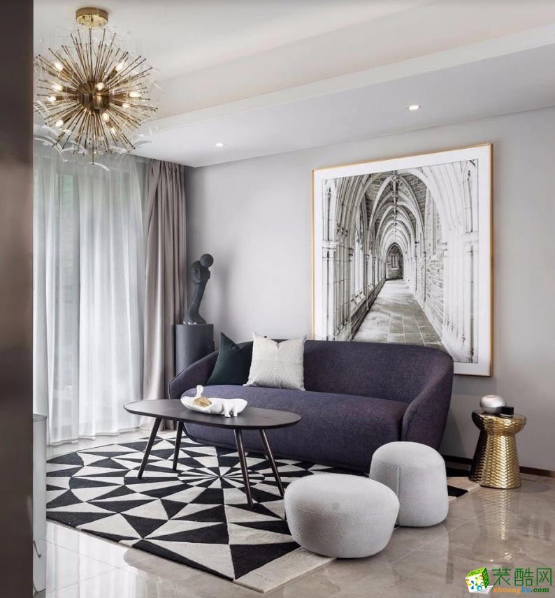 【尊品裝飾】經典明苑-92㎡三居室現代風格效果圖