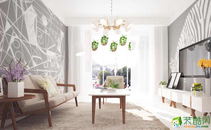 石柱庭雅装饰-112平米现代三居室装修案例