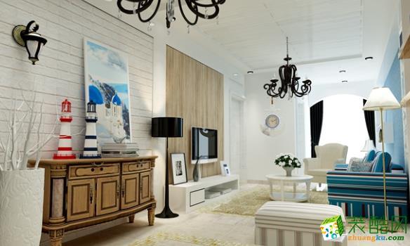 石柱庭雅装饰-105平米地中海三居室装修案例