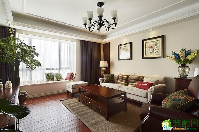 贵阳美式风格两居室82平米装修效果图