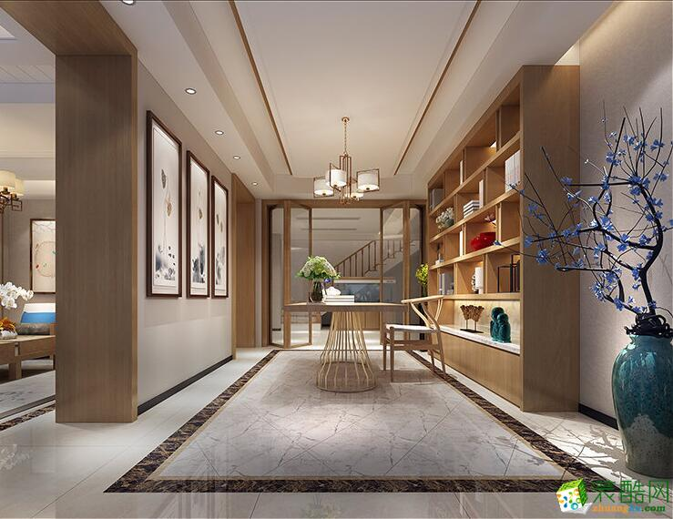 桂林别墅装修―恒锦装饰300平新中式风格装修效果图