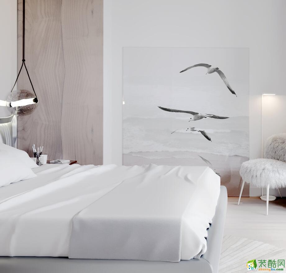 郑州一室一厅一卫装修—中海锦苑60平现代简约风格装修效果图