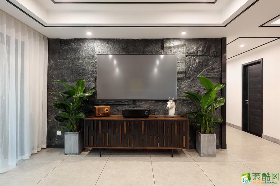 天熙公馆160方港式风格四室两厅设计作品