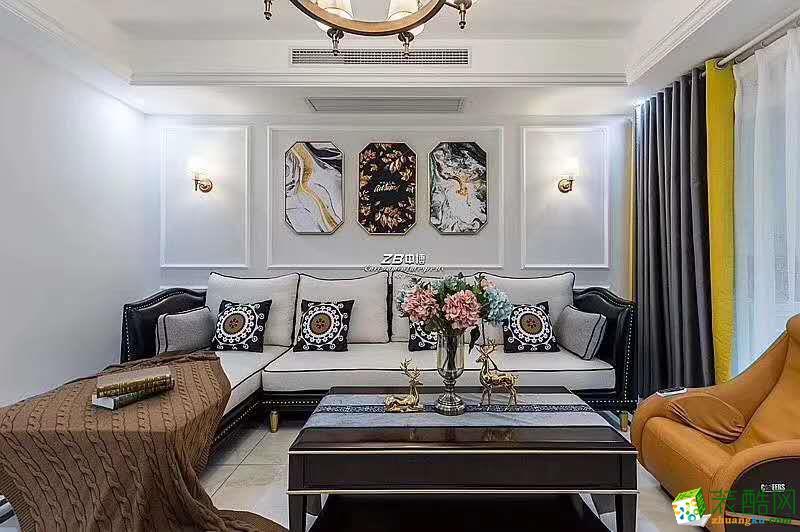 中博装饰戈雅公寓全装130方三室两厅实景