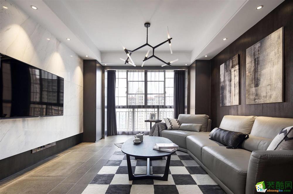 上海跃层住宅装修-180平米现代风格装修效果图-郡唐装饰