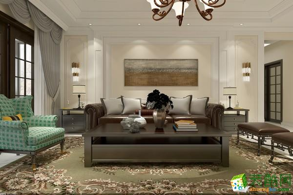 深度空间装饰胜利嘉园――美式风格的单位房