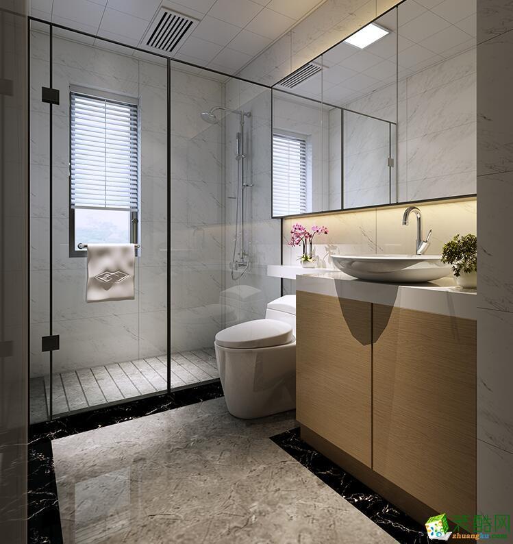 桂林两室一厅一卫装修—大象装饰83平现代简约风格装修效果图