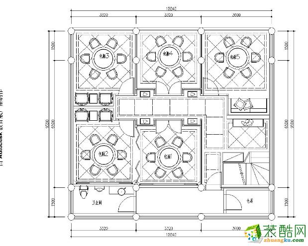 广安生活家公园茶楼280㎡【新中式】装修案例