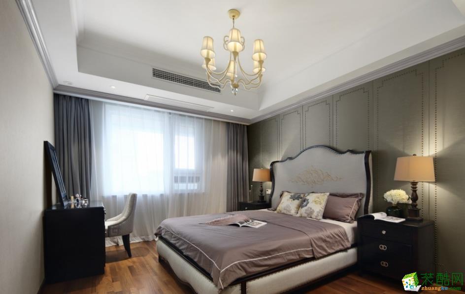 卧室  【创艺装饰】150㎡美式风格装修效果图
