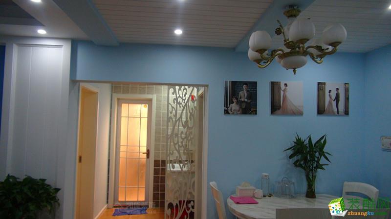 京冠御园华府86�O小美风格两室一厅设计实景作品